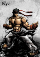 SF IV - Ryu by Omegaro