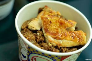 Chicken with Yakiniku Don by KuroDot