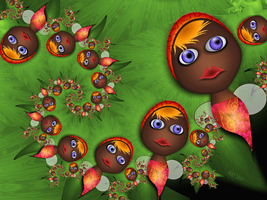 Little Tropical Fairies by 21citrouilles