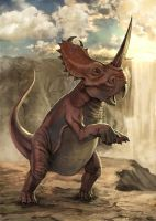 Centrosaurus by Jessada-Art