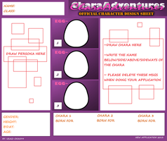NEW CHARA ADVENTURES APPLICATION 2013 by usagi-chan99
