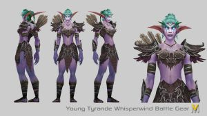 Young Tyrande Battle by Vaanel