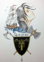 Asha Greyjoy coloured by luanadorea
