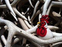 Felted Chicken in Yellowstone by AlwaysSuagarCoated