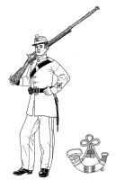 Victorian Rifle Volunteer by linseed
