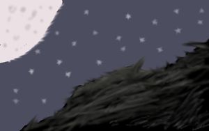 Moonlit Mountain(Shading Attempt) by The-Fire-Magician