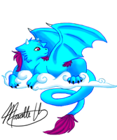 Daydream Dragon- colored by MaeMusicMelody