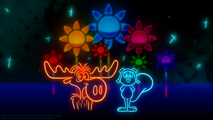 Rocky and Bullwinkle ~.: neon :.~ by LadySomnambule