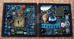 Polymer Clay Mosaic Tile Pair by MandarinMoon