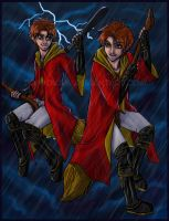 The Weasley Twins by icyookami