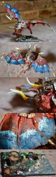 Bale Taurus as The Red Bull from The Last Unicorn by Heatherbeast
