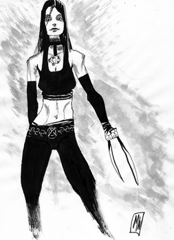 X23 Laura Kinney Ink Wash by mwehner
