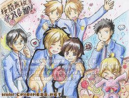 Ouran High School Host Club by BettyKwong