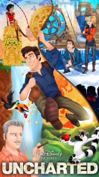 Uncharted Series Poster by imajanaeshun