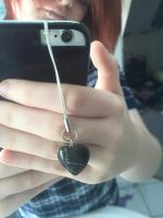 Stone Heart Phone Charm by SKells666