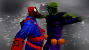 Spider-Pyro VS The Green Goblin by superspy6
