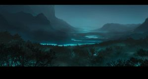 Creepy landscape by FisHgRiNd