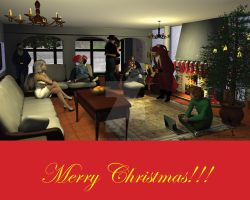 Christmas Party by Tramp-Graphics