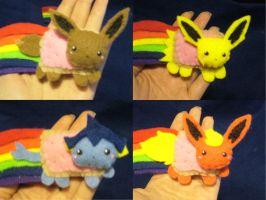 Eeveelution Poke Nyan Magnets by Sexual-Pancake