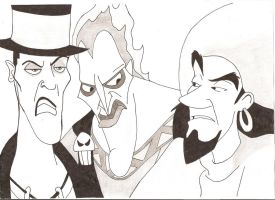 Facilier, Hades, Clopin by thistlepin