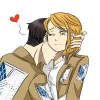 SNK A Kiss On The Neck by AimiisLoveBeautiful