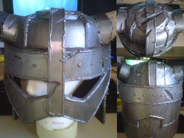 Dovahkiin Helm- almost finished by Scarlet-Impaler