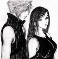 Cloud and Tifa by Meilily