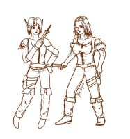 pair of thieves lineart by Kratos-YMVS
