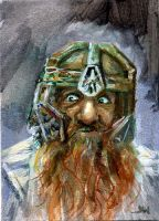 Gimli The Lord of the Rings Sketch Card by Stungeon