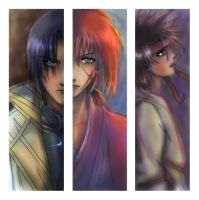 Rurouni Kenshin Bookmarks by seabird