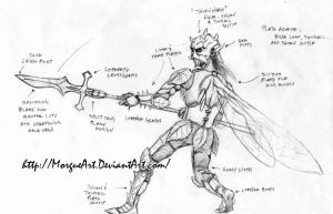 Glaive Faerie Concept by MorgueArt