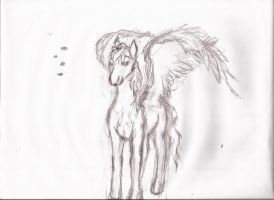 realistic rainbow dash standing poised by Pwnyville