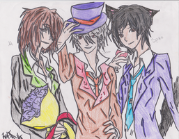 Yoku Sesso and Spaz HA's Bad touch Trio by AnimeGurl1012