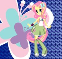 Equestria Girls Fluttershy Rocking Hairstyle by kimpossiblelove