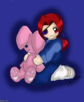 Dian and the Bunny Plush by RagingChaosGod