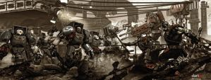 Ultramarines vs Orks_variation by DartP