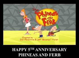 Phineas and Ferb 5th Anniversary by 022288knarrow