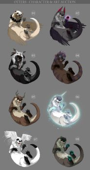 Otters - character and art auction CLOSED by akreon