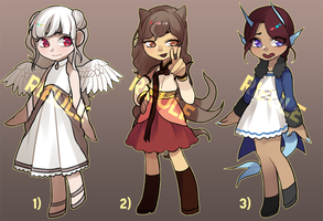 [AUCTION ADOPTS] Monster Girls by rieule