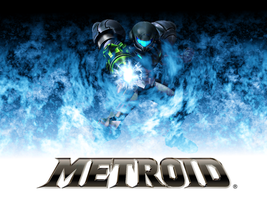 Blue Flames Metroid Wallpaper by kironohasama