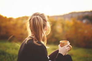 coffee in the evening light by Rona-Keller