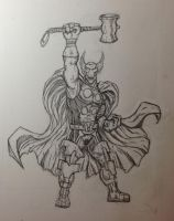 Beta Ray Bill Pencil Practice 1 by ThomasScantenii