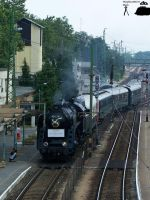 Special train with 424 247 steam engine in Komarom by morpheus880223