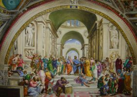 School of Athens reproduction by Shimmie