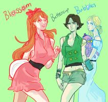 powerpuff TEEN girls by bucketburger