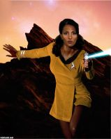 Pam Grier Star Trek TOS by Rabittooth