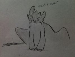 Toothless sketch 1 by ShoyzzFanArt