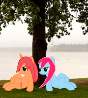 Flames and Cotton Under Tree by lllRafaelyay