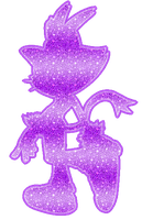 Blaze the Cat Silhouette Glitter by FlopiSega