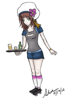 Waitress Girl At Your Service by CrateriaBrinstar